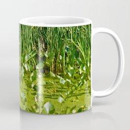 Great Blue Heron Takes Flight Coffee Mug