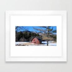 Deserted Barn in the Adirondacks Framed Art Print