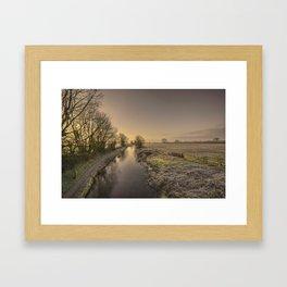 Battens Bridge Frost  Framed Art Print
