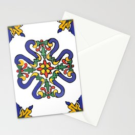 Talavera Royal Blue Green Red  Stationery Cards
