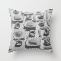 pasta Throw Pillows featuring Pasta by Isabel Martinez Isabel