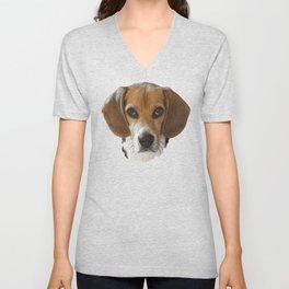 Beagle canvas, dogs, hunting dogs Unisex V-Neck