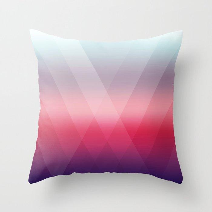 Fading Geometry Throw Pillow