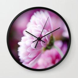 Padre Cerise Belgian Mum Side Profile Wall Clock