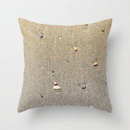 Stones on the Sand Throw Pillow