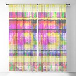 Databending #2 (Hidden Messages) Sheer Curtain