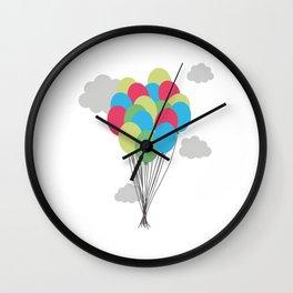 Colorful balloons Wall Clock