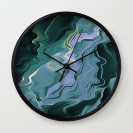 Teal Turbulence Wall Clock