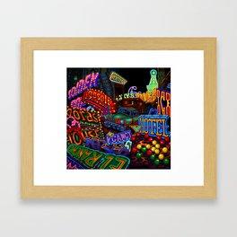 Vegas Graveyard Framed Art Print