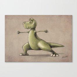 Dinosaur Warrior Canvas Print