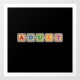 All Grown Up Letter Blocks Art Print