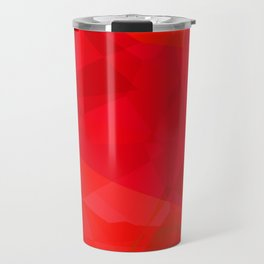 Mottled Red Poinsettia 2 Abstract Polygons 3 Travel Mug
