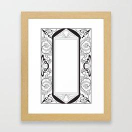 Grapeleaves Deco Framed Art Print