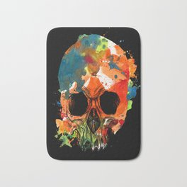 water color skull Bath Mat