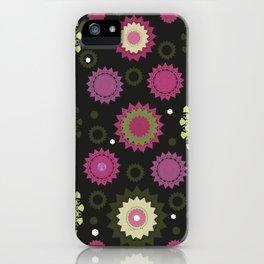 Mandala and Flowers iPhone Case
