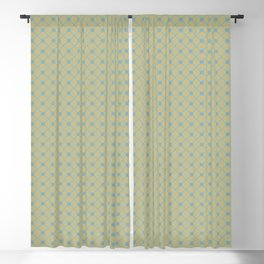 Tranquil Blue on Earthy Green Parable to 2020 Color of the Year Back to Nature Polka Dot Grid Blackout Curtain