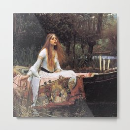The lady of shalott painting  Metal Print