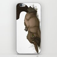 platypus iPhone & iPod Skins featuring Grumpy Platypus by The Art of Nicole
