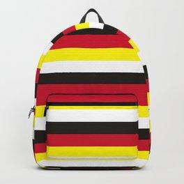 Brunei flag stripes Backpack