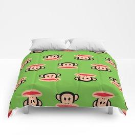 Julius Monkey Pattern by Paul Frank - Green Comforters