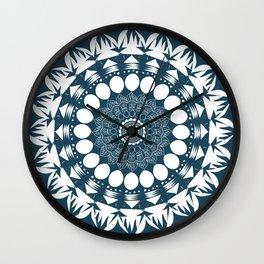 Navy Blue Mandala Wall Clock