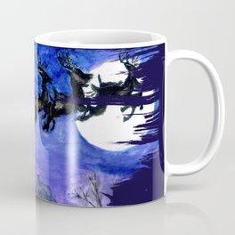 Flying Santa in watercolor Coffee Mug