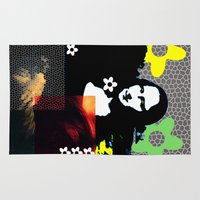 mona lisa Area & Throw Rugs featuring Mona Lisa by Big AL