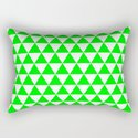 Triangles (Green/White) by 10813apparel
