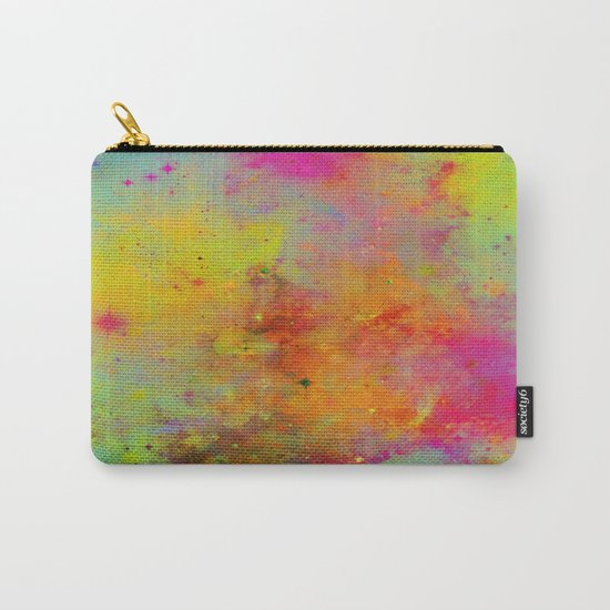 Rainbow Galaxy - Abstract, rainbow coloured space painting Carry-All Pouch