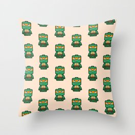 Chibi Michelangelo Ninja Turtle Throw Pillow