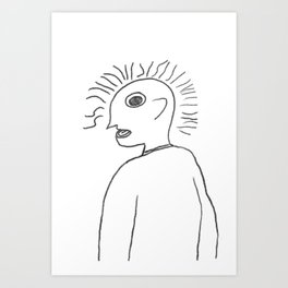 Reaction to Someone Saying Art is Less Important Than Cars Art Print