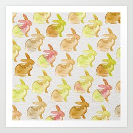 Watercolor Bunnies 1G by Kathy Morton Stanion Art Print