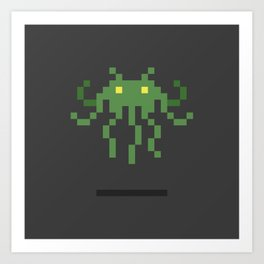 Cthulhu Invader Art Print