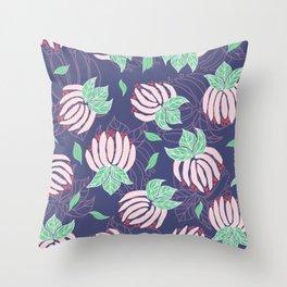 Blush Bloom Peony Lavender Throw Pillow