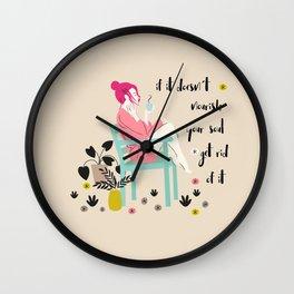 nourish your soul Wall Clock