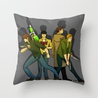 supernatural Throw Pillows featuring Supernatural by Justyna Rerak