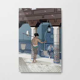 A meeting on a sunny day in a foreign land Metal Print