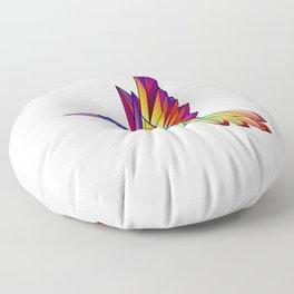Rainbow Hummingbird Floor Pillow