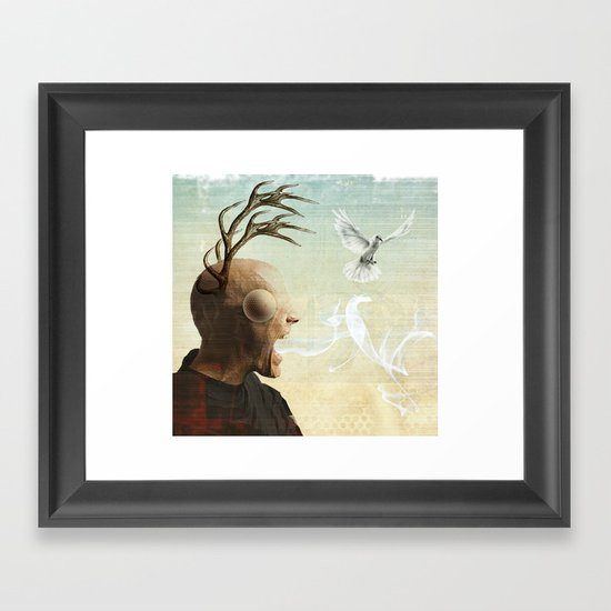 polarity of odds Framed Art Print
