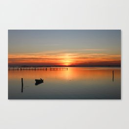 Sunset in Porto tolle Italy Canvas Print