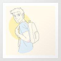 stiles Art Prints featuring Stiles by PrettyOddChild