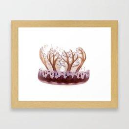upside down jelly fish Framed Art Print