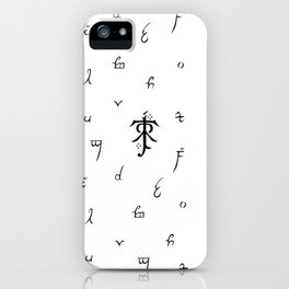 A Guide to Elvish Letters iPhone Case