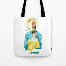 La Moreneta. Virgin of Montserrat Tote Bag