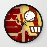 robot Wall Clocks featuring Robot by LindseyCowley