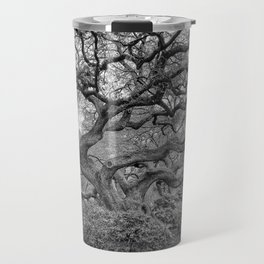 See The Tree, How Big It's Grown - Black And White Travel Mug