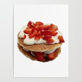 pancakes_strawberries_and_whip_cream Poster
