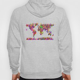 World Map Music Notes Hoody