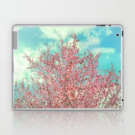 Pink flowers in the early morning Laptop & iPad Skin