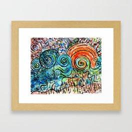 whimsy sunset art  Framed Art Print